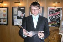 Vernisáž bývalých žáků výtvarného oboru – Jan Vaněk, René Rücker , 10. ledna 2009 – Galerie U Šaška MěKS Vimperk