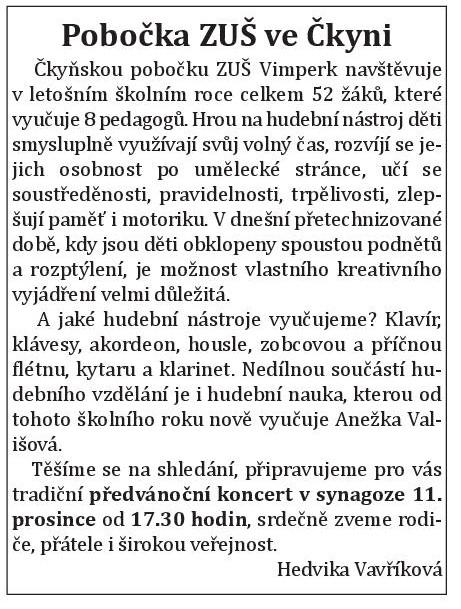 ckynske aktuality - listopad 2019