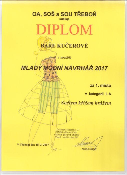 Diplom Bára Kučerová