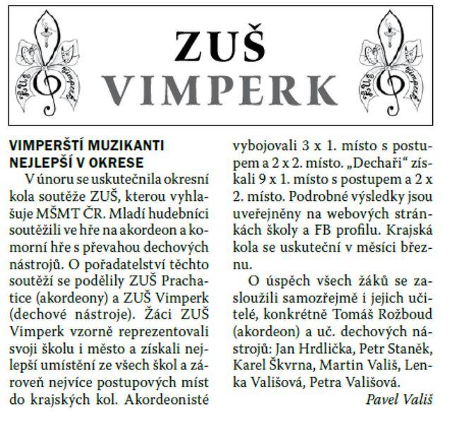 Vimperské noviny, březen 2016