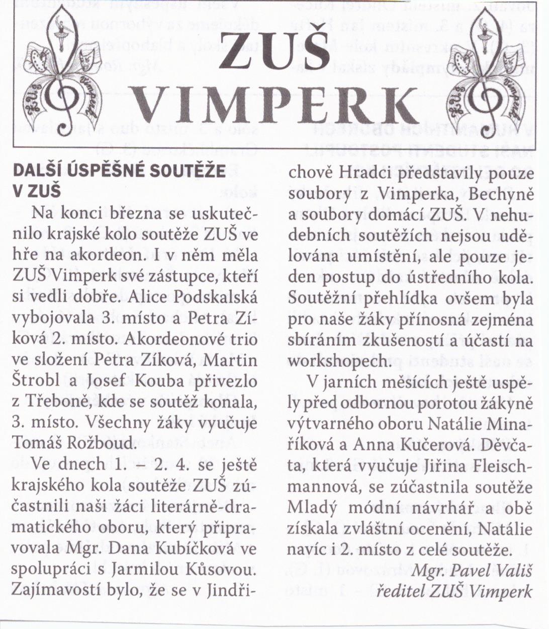 Vimperské noviny květen 2016