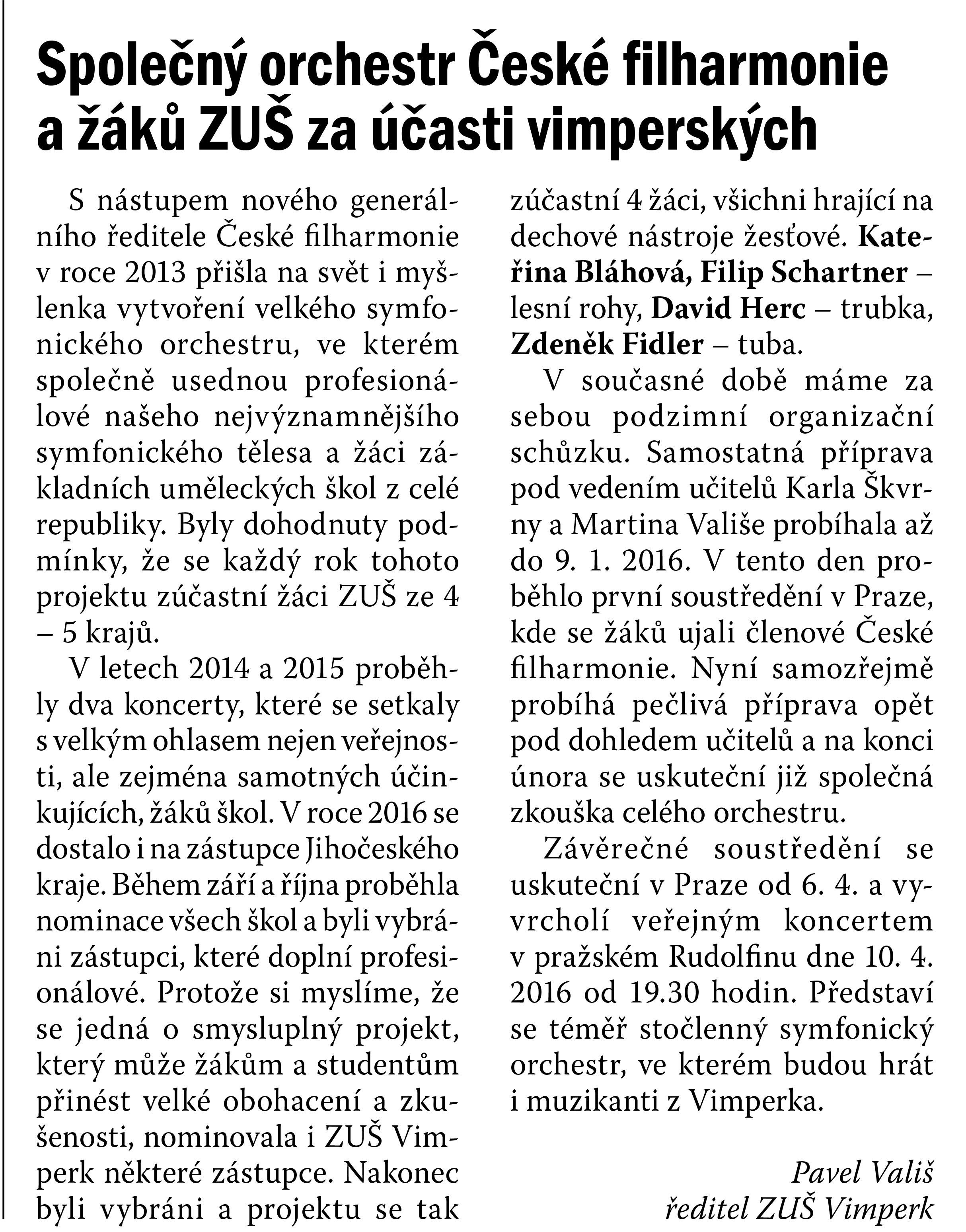 Vimperské noviny únor