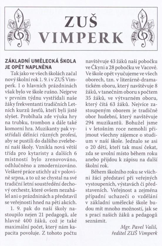 Vimperské noviny říjen
