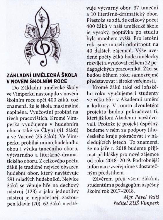Vimperské noviny říjen 2017