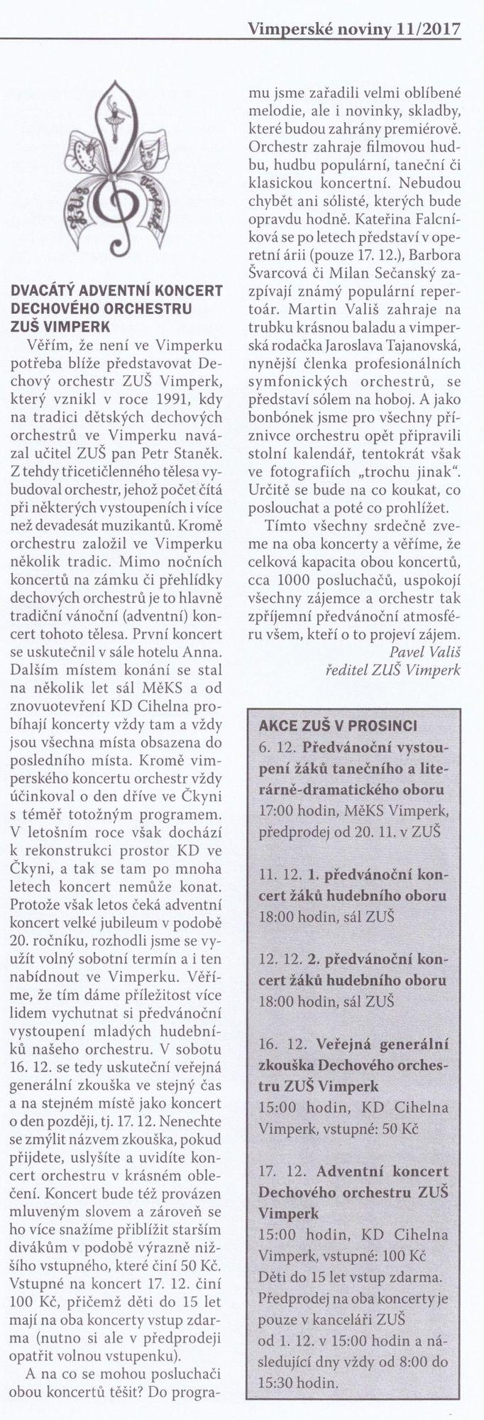 Vimperské noviny prosinec 2017